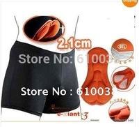 Men Women Bicycle Cycling Bike Short Underwear Pants Gel 3D Padded Coolmax Black HOT Case Free shipping!