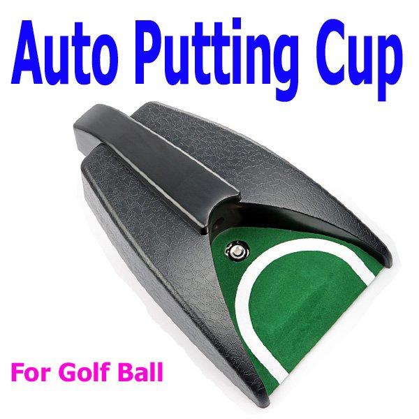 Golf Ball Kick Back Automatic Return Putting Cup Device Training Aid, Free Shipping Wholesale(China (Mainland))