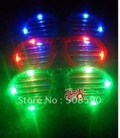Free shipping 2012 new arrival 3 modes 120pcs/ lot LED Glasses flashing blind glasses Light led Shutter Glasses  for Christmas