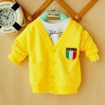 Infant cardigan 1 2 3 baby boy sweatshirt air conditioning shirt three-color flag cardigan h11