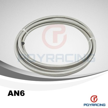 "6 AN -6 (8 mm 5/16"") PTFE Stainless Braided Teflon Hose"