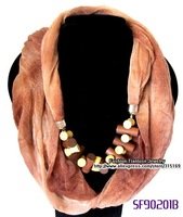 3pcs/pack+Free shipping Wholesale & Retail Fashion Jewelry Designer Scarf, Pendant Scarf Jewelry for Lady,Eco-friendly