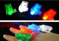120pcs/lot LED Laser Finger Light Finger Glow Lamp Beams Ring Torch For Party 4 color mix -Free Shipping