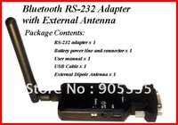 2pcs/lot Wireless Bluetooth RS-232 adapter with External Dipole Antenna for receipt printer, bar code reader Bluetooth