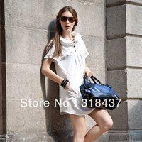 2013 summer short-sleeve fashion women's ol elegant brief slim chiffon  dress,142029