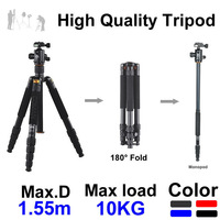 Coman 1.55m 4-Section Professional Camera & Video Tripod Ball Head 4 Colors