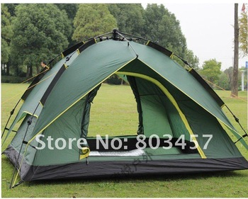 Fast Delivery+High quality Instant tent Automatic camping tent 3-4 person Double layer