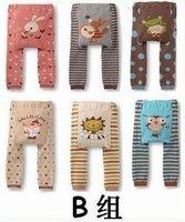 6 pcs/lot NEW Arrival Children Kids PP Pants Long Trousers Cartoon Legging Cotton Baby Boys Girls Wear HOT Sale LC0783