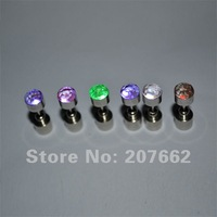 2013 NEW arrival New design 10pcs/lot(5pairs)Free shipping 20*7mm 6color flashing led light earrings for party