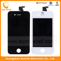 50pcs/lot For iPhone 4 4G LCD Display With Touch Screen Digitizer Asembly Replacement Black/ White Color DHL free Shipping