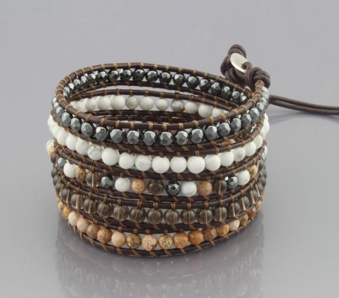 [해외]vintage Style weaving leather wrap bracelet african ..