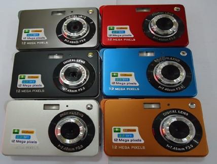 Domestic DC-K10 12MP Digital Camera 2.7 inch display card type camera cheap camera(China (Mainland))