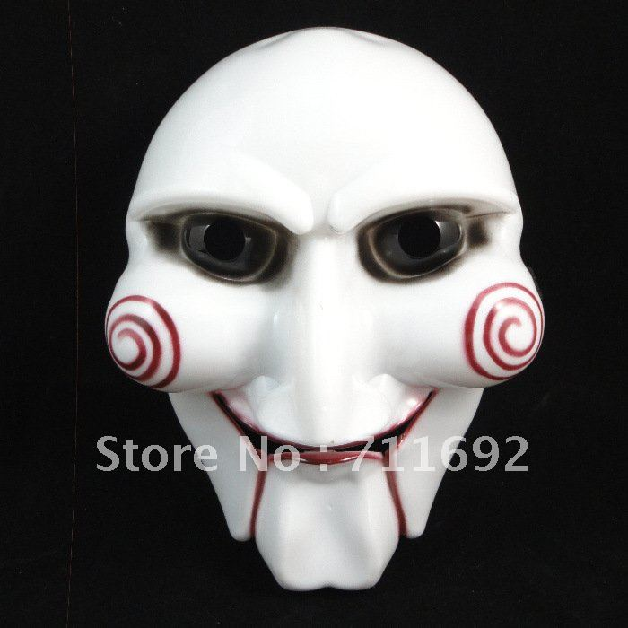 Free shipping-15pcs/lot Hot saleing Cosplay Saw Puppet Masquerade Horror Scary Mask Chainsaw Massacre Party(China (Mainland))