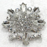 Wholesale 12piece/lot Clear Marquise Crystal Rhinestone Wedding  party prom Brooches Flower Brooch Jewelry gift C2071 A
