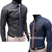 Free Shipping+ New Mens Shirt+Casual Slim Fit Stylish Hot Dress Shirts long sleeve 2color,4 Size,dropshipping3654