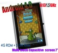 7 Inch MID Android 4.0 Capacitive Screen Tablet with 512M 4GB Camera WIFI Allwinner Q8 A13 eken Table PC
