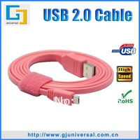 New arrival 1.5M 5FT Noodles flat Micro USB 5Pin to USB Data Cable For Samsung S3 S2 HTC One S Blackberry Nokia Sony etc.
