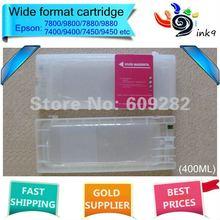 Refillable cartridge for Epson 7880 9880,8colors(PBK C  M Y LC LM LK LLK),capacity 400ml