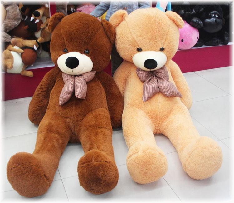 100cm FULL COTTON Plush Big Teddy Bear Toys 120cm/160cm/180cm /200cm doll /lovers gifts(China (Mainland))