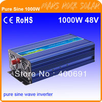 1000W 48VDC to 110V/220VAC Off Grid Pure Sine Wave Single Phase Solar or Wind Power Inverter, Surge Power 2000W
