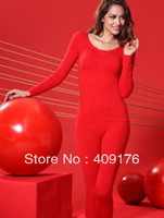 Promotions!!! Women's Winter Cotton Seamless Bodysui, Lady Slimming Butterfly tops & pants+High Quality long johns