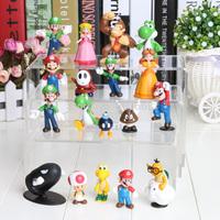 PVC Super Mario Bros Figure yoshi dinosaur Figure cos 18style mixed  free shipping