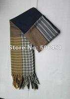 Simple and Generous stripe color matching tassel scarf wholesale high-grade air-conditioning national Scarf