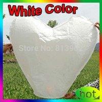 150pcs White Heart shape Shipping UFO Sky Wishing Lantern Chinese Lantern Wedding Xmas Halloween Lamp ,FREE SHIPPING ,SL047