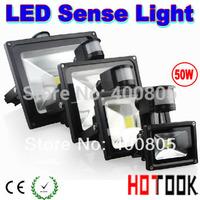 led sensor lights 10W 20W 30W 50W motion sensors PIR Black FloodLight Induction Sense project light lamp Foco 85~265V CE & ROHS