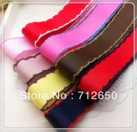 Free shipping 8 yards mixed colors crochet ribbon 7/8''(22mm)-1''(25mm) grosgrain ribbon, DIY hairbow garment accessories
