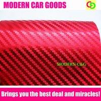 high quality 152cm x 30m red 3d carbon fiber chrome vinyl film with air free drains car vinyl car wrap gorgeous car stickers