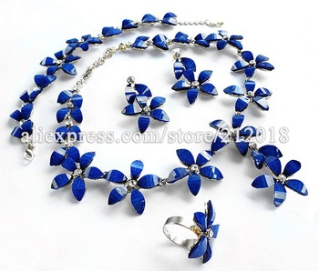 Fashion Jewelry, African Costume Jewelry Sets, Charming 18k Gold Plating Flower Shape Jewellery, Free Shipping