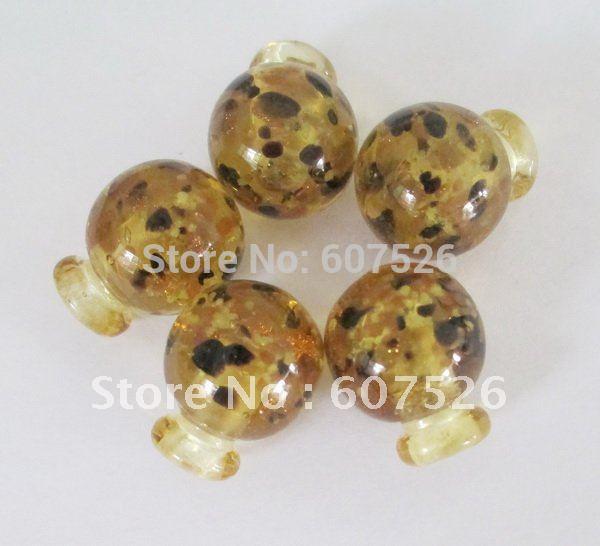 JLB 30pcs/lot Wholesale Mix Color fashion DIY lampwork murano glass gold dust Perfumer Bottle beaded Pendant necklace Jewelry(China (Mainland))