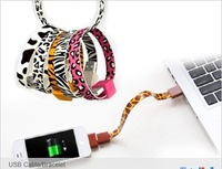50pc,Free shipping,Promotional,New Style Bracelet Micro USB Charger Colorful Cable For Samsung HTC LG Blackberry Loop USB Cable