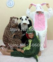 China post free shipping Coral fleece animal cartoon sleepwear pajama sets