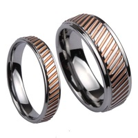 Tungsten Ring, fashion Jewelry Couple Rings R5133M   (Size 3-12) | Free Custom Engraving Free Shipping