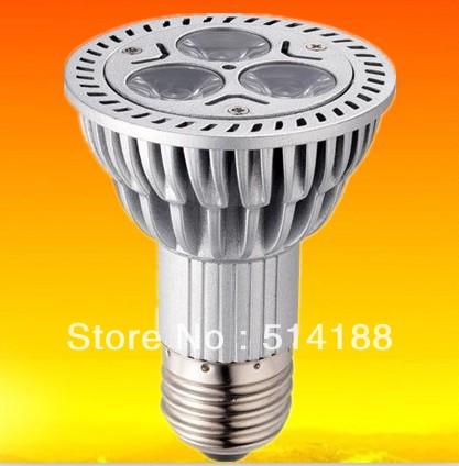Free shipping by DHL 10pcs/lot 3x3w PAR20 Rotudity Cree LED LIGHT Bulb E27 E26 Spot Lights 750-800lm(China (Mainland))