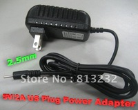 5V 2A power adapter for tablet PC, DC plug 2.5mmx0.7mm, US Plug Travel Charger, good quality, free shipping