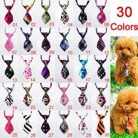 1pcs Adjustable Pet Dog Cat Handsome Bow Tie Necktie Neck Collar Cute gift 30colours