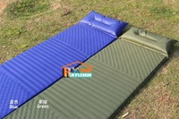 Free shipping Camping Mat Automatic Inflatable Mat Cushion with inflatable pillow Sleeping Mat