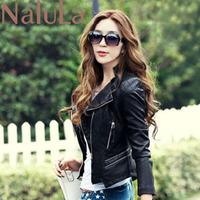 2014 Fashion Pu Leather Jackets Women Short Slim Motorcycle Turn-down Collar PU Leather Jacket Women's Pu Leather Coat ZA5119