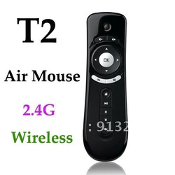 T2 Air Mouse 2.4G 3D Motion Stick Android Remote PC Mouse Mice for TV box Smart TV Media Player Device Drop ship(China (Mainland))