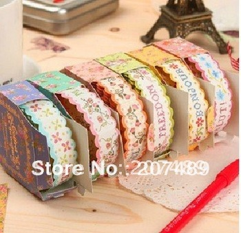 multi 6 color lace paper stickers Adhesive Tape Deco DIY card art craft scrapbook photo Roll stationery