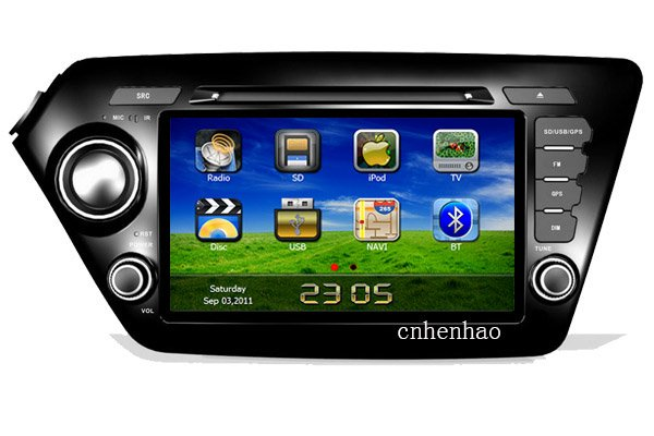 HD in dash 2din head unit car dvd player gps navi for kia K2 (2011-2012) RIO ( 2012) ipod original steering wheel control(China (Mainland))