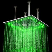 600x600mm fashion ceiling mounted led big rain shower head