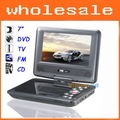 Free Shipping DA-779 In Car 7&quot; TFT LCD Swivel Portable DVD Player+TV+Game Dropshipping+Wholesale