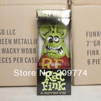 "FUNKO WACKY WOBBLER Rat Fink ""BIG DADDY"" Green BOBBLE RARE HEAD FIGURE"