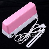 Free Shipping Pink 9W 220V-240V Nail Art Gel Curing UV Lamp Nail Dryer&220V Gel Curing UV Lamp ( EU plug)