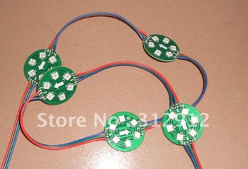 non-waterproof DC12V WS2811 pixel module, with 6pcs 5050 RGB SMD LED,50mm diameter,20pcs a string;256 gray scale