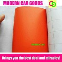 wholesale 1.52 x 30m matt orange color changed vinyl film car vinyl car wrap practicable car stickers